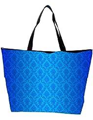Snoogg Abstract Blue Pattern Design Designer Waterproof Bag Made Of High Strength Nylon - B01I1KLB0S