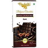 Chocholik Belgium Chocolate - Chocolates Dark Toffee Crunch Bar - Luxury Belgium Chocolates 100 G (3.5 Oz)