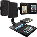 Accessory Planet(TM) Negroid Money Wallet Wallet Leather Pouch Case Cover with Credit Card Slots Holder Accessory for Apple iPod Touch 4th Generation
