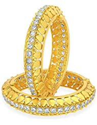 Sukkhi Angelic Gold Plated American Diamond Bangle For Women