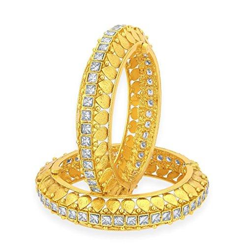 Sukkhi Angelic Gold Plated American Diamond Bangle For Women