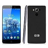 "Elephone P9000 - 32GB Smartphone libre 4G LTE (Pantalla 5.5"", Android 6.0, 4GB RAM, Octa-Core 64-bit, Cámara 13.0 Mp, Carga rápida, Lector de huellas dactilares), Negro"