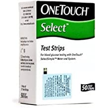 Johnson & Johnson One Touch Select 50 Test Strips Glucometer, White