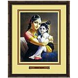 Elegant Arts & Frames Mother Yasoda Multicolour Print 14 X 11 Photo Frame