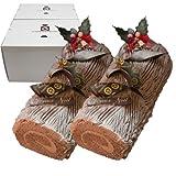 La Clementine 生チョコノエル長さ15cm2箱セット ブッシュ・ド・ノエル クリスマスケーキ【2016年12月21日お届け限定】