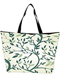 Snoogg Vector Seamless Pattern With Branches Waterproof Bag Made Of High Strength Nylon