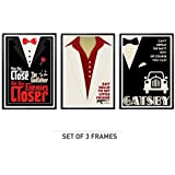 "Lab No. 4 Set Of Three ''The Godfather"", ""Scarface"", ""The Great Gatsby"" Movie Quote Poster In A3 Size"