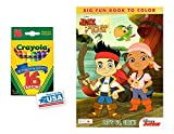Jake Never Land Pirates Coloring & Activities Book and 16 Crayola Crayons Box (Pack of 2)