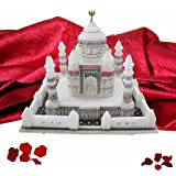 "DEKOR WORLD White Marble Taj Mahal(7""X7""White)"