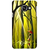 For Samsung Galaxy A7 (2017) Beautiful Little Girl ( Beautiful Little Girl, Little Girl, Tree, Jungle, Water, Red Umbrella, Umbrella ) Printed Designer Back Case Cover By FashionCops