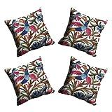 MeSleep Digitally Printed Bird Micro Fabric 4 Piece Cushion Cover Set - Blue