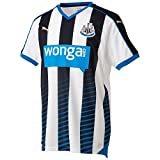 Puma Newcastle Home Football Team Club Replica Shirt - Black/White/Puma Royal, 2X-Large