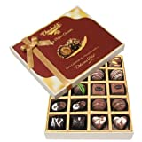 Chocholik Belgium Chocolates - 20pc Dark And Milk Chocolate Box