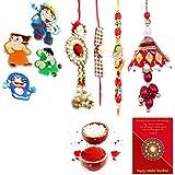 Gomati Ethnic Designer Ethnic 8 Pc Family Special Rakhi Gift Set Rakhi Gifts For Brother Free Shipping+Roli+Chawal+Greeting Card !! 2Bb4Ks900