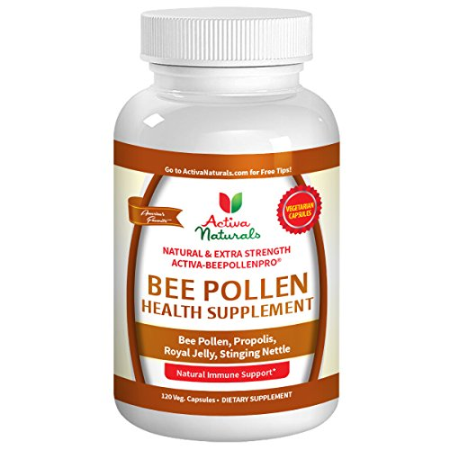 Activa Naturals Bee Pollen Supplement - 120 Vegetarian