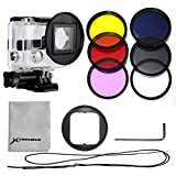 XCSOURCE Filter Kit 6PCS Filters (UV +CPL+ND4+ Rose Color + Purple Color + Yellow Color Filter) + 52mm Filter...