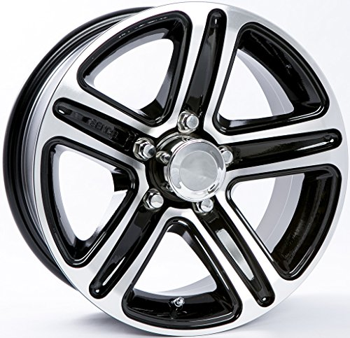 Aluminum Trailer Wheel Black Rim 14.5 x 5.5 Spoke Style (5 Lug On 4.5″)