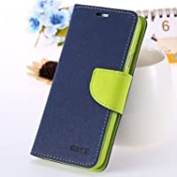 Pikimania Mercury Goospery Fancy Diary Wallet Case Cover For Asus Zenfone Selfie (Blue)+OTG