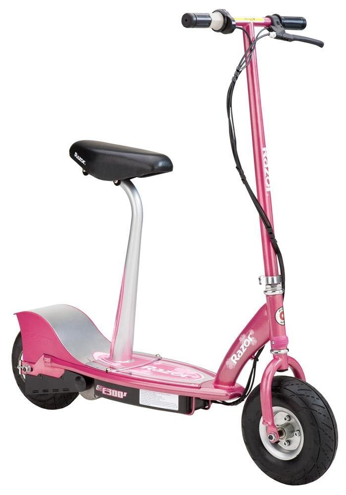 Razor E300S Seated Electric Scooter, Pink