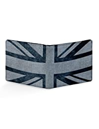 EzyPRNT Union Jack Printed Canvas Leather Men's Wallet