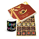 Master Chocolatiers Gift Box With Birthday Mug - Chocholik Belgium Chocolates