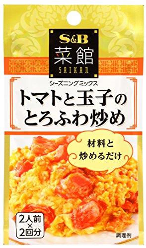S&B 菜館シーズニング トマトと玉子のとろふわ炒め 13g×10個