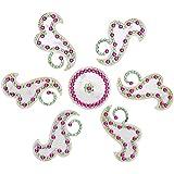 Snehal Arts Plastic Rangoli (SA-9, 23 Cm X 23 Cm X 0.3 Cm, White, Set Of 7)
