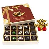 Chocholik Belgium Chocolates - Great Combination Of 20 Pc Assorted Chocolates With Small Ganesha Idol - Gifts...