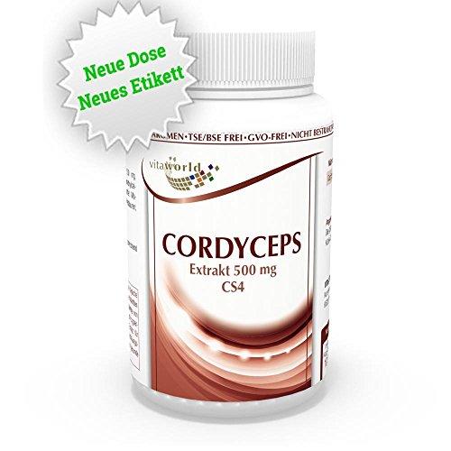 Vita World Cordyceps Extrakt 500mg 100 Kapseln Apotheken Herstellung Raupenpilz