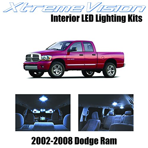 XtremeVision Dodge Ram 2002-2008 (10 Pieces) Cool White Premium Interior LED Kit Package+Installation Tool