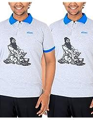 Vilva Blissful Valluvan Men's Polo Tamil Shirt (Grey Combo)