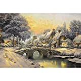 Mutong Toys Adult 1000-piece Puzzle Ink Painting Style Wooden Jigsaw Puzzles ST014-Winter