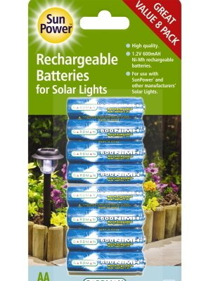 For Sale 8 x AA Replacement Rechargeable Batteries for