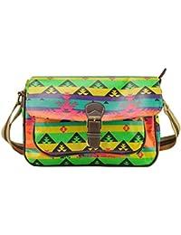 Geometric Stripe Printing Women Handbag(ASSORTED COLOUR)