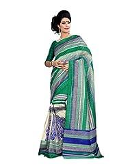 Anu Designer Self Print Saree (6403A_Multi-Coloured)