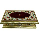 Royal Rectangle Shaped Meenakari Dry Fruit Box/Decorative Box