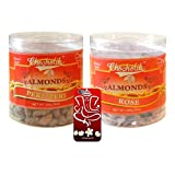 Chocholik Dry Fruits - Almonds Peri Peri & Almonds Rose With 3d Mobile Cover For IPhone 6 - Diwali Gifts - 2 Combo...