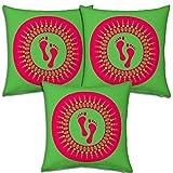 Best Festival Gifts Diwali Christmas New Year Set Of 3 Green-Red Laxmiji Ganeshji Footprints Foot Impressions...