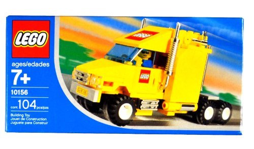 Lego Year 2004 Exclusive City Series Set #10156 - Yellow Truck With Shiny Chrome Exhaust Pipes LEGO Logo And License...
