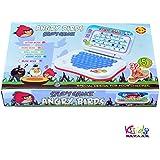 Kids Bazaar Angry Bird Study Game Mini Laptop (Blue) Combo Princess Projector Watch For Kids