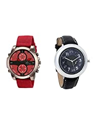 Gledati Men's Red Dial & Foster's Women's Grey Dial Analog Watch Combo_ADCOMB0002109
