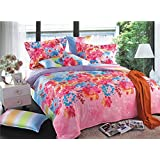 Bianca Chantal Cotton Double Bedsheet With 2 Pillow Covers - Brink Pink