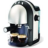 Black/Stainless Steel : Morphy Richards 172004 Accents Espresso Coffee Maker - Black/Stainless Steel