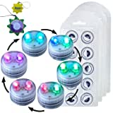 HQRP 40-Pack Super Bright Color Change / Multicolor Waterproof / Underwater Dual LED Illuminated Submersible Flameless...