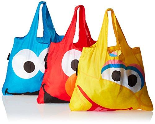 Envirosax Sesame Street Pouch Reusable Shopping Bags (Set Of 3), Multicolor