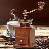Alcoa Prime Retro Solid Wood Manual Coffee Grinder With Ceramic Burr Core