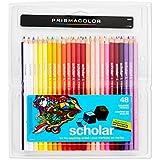 Prismacolor 92807 Prismacolor Scholar Colored Woodcase Pencils, 48 Assorted Colors/Set