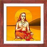 1505-Kanchi Sankaracharya-Teak (35.5x35.5)