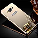 GazE Luxury Metal Bumper Acrylic Mirror Back Cover Case For Samsung J2 Gold Plated