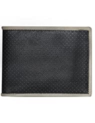 Style98 Black And Grey Genuine Leather Designer Wallet With 8 Card Slots For Men